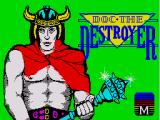 Doc the Destroyer ZX Spectrum Loading screen