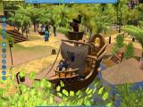 RollerCoaster Tycoon 3 Windows Animated pirate scenery from adventure theming.
