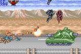 Contra Advance: The Alien Wars EX Game Boy Advance Objective: destroy an armored tank and some flying enemies.
