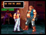 Art of Fighting Neo Geo Robert VS. Jack Pre-Fight Screen