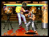Art of Fighting Neo Geo Robert VS. Mr. Karate 1