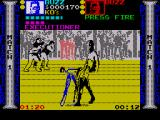 Pit-Fighter ZX Spectrum The Executioner land a flying kick on Buzz's head