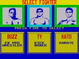 Pit-Fighter ZX Spectrum Select your fighter