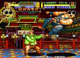 "Fatal Fury 2 Neo Geo Another case of the ""unseen blow"": Big Bear takes one from Cheng Sinzan."