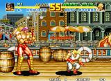 Fatal Fury Special Neo Geo Here in this screenshot, you can notice that Andy Bogard is crouching down on the floor. Is he doing this to perform a low attack, or to avoid being hit by Wolfgang Krauser?
