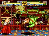 Fatal Fury Special Neo Geo Cheng Sinzan takes an unseen blow from Geese Howard.
