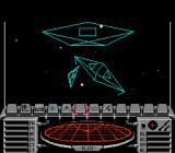 Elite NES Three ships swoop into view during the opening combat sequence.