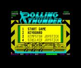 Rolling Thunder ZX Spectrum Main menu