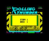 Rolling Thunder ZX Spectrum Ready to start