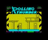 Rolling Thunder ZX Spectrum Starting position