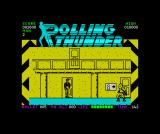 Rolling Thunder ZX Spectrum Exiting one of thew doros for more ammo