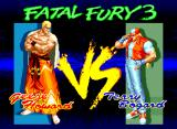 Fatal Fury 3: Road to the Final Victory Neo Geo Here in this anime-style VS. screen, you can see Geese Howard smiling menacingly at his worst, most hated enemy, Terry Bogard.