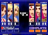 The King of Fighters 2003 Neo Geo In this screen, use A, B and C Buttons to choose the battle order.