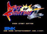 Art of Fighting 2 Neo Geo Title screen.
