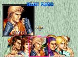 Art of Fighting 2 Neo Geo Character select screen: pick your favorite and go battle!