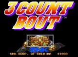 3 Count Bout Neo Geo CD Title Screen and Main Menu