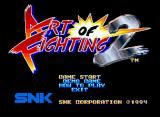 Art of Fighting 2 Neo Geo CD Title Screen