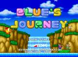 Blue's Journey Neo Geo CD Title Screen