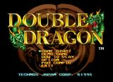 Double Dragon Neo Geo CD Title Screen and Main Menu