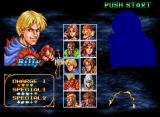 Double Dragon Neo Geo CD When you select your character, you can see his or her face, however, your opponent is shrouded in mystery...