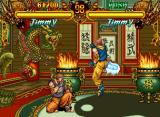 Double Dragon Neo Geo CD Jimmy VS. Jimmy. Do you notice the glowing foot? A nice touch of detail...