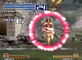 The King of Fighters 2003 Neo Geo Athena's LSDM redesigned finish: Healing Athena.