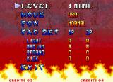 Samurai Shodown III: Blades of Blood Neo Geo Options screen.