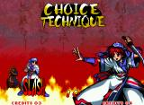 "Samurai Shodown III: Blades of Blood Neo Geo Choose between two technique types: SLASH is the normal and BUST is the alternative; it seems a ""dark"" version of the fighter."