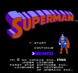 Superman NES Title screen