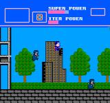 Superman NES Superman leaps into the air, but his enemy is hot on his heels!