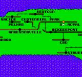 Superman NES Map of Metropolis and the surrounding area