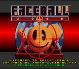 Faceball 2000 SNES Title screen