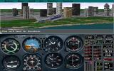 Microsoft Flight Simulator (v5.0) DOS Downtown Chicago