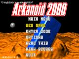 Arkanoid 2000 Windows Main menu