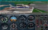 Microsoft Flight Simulator (v5.0) DOS Stadium flyby