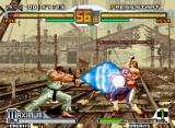 SVC Chaos: SNK vs. Capcom Neo Geo Ryu's Shinkuu Hadou Ken was blocked by Vega: bad luck to the shotokan fighter... :-(