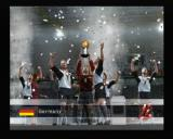 World Soccer: Winning Eleven 8 International PlayStation 2 Germany celebrating the winning of a Konami Cup
