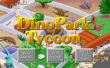 Dinopark Tycoon DOS Title screen