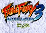 Fatal Fury 3: Road to the Final Victory Neo Geo CD Title Screen