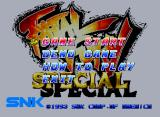 Fatal Fury Special Neo Geo CD Here is the title screen, with some basic options.