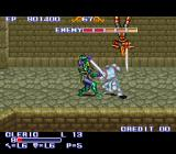 The King of Dragons SNES The Cleric fighting against two knights