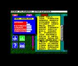 Jahangir Khan World Championship Squash ZX Spectrum Player list, with statistics for a player selected