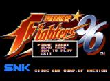 The King of Fighters '96 Neo Geo CD Title Screen and Main Menu