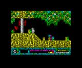 Jack the Nipper... II in Coconut Capers ZX Spectrum Standing on the slope