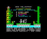 Jack the Nipper... II in Coconut Capers ZX Spectrum Main menu