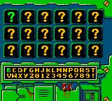 Earthworm Jim: Menace 2 the Galaxy Game Boy Color Password screen.