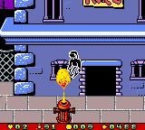 Earthworm Jim: Menace 2 the Galaxy Game Boy Color Wait a good moment to jump these fire hydrant, or else Jim will be burned for a moment... :-(