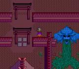 Tengai Makyō II: Manjimaru TurboGrafx CD This evil orchid (blue) will be destroyed, like all the other orchids, after you have defeated its master
