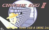 Chuckie Egg II Atari ST Loading screen