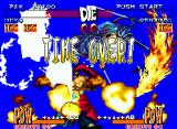 Samurai Shodown III: Blades of Blood Neo Geo Ukyo's super move Tsubame Six Flash executed after the time was finished.